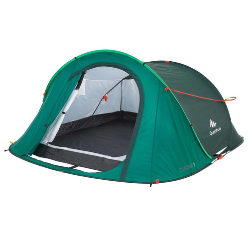 2 SECONDS CAMPING TENT - GREEN- 3 PEOPLE - Decathlon New Zealand