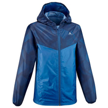 Load image into Gallery viewer, Boys Waterproof Hiking Rain Jacket - 150 - Navy/Grey - Decathlon New Zealand