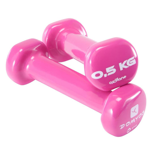 Pilates Toning Dumbbells Twin-Pack 0.5 kg - Decathlon New Zealand