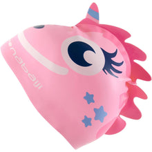 Load image into Gallery viewer, Silicone Form Swim Cap - Dragon Pink