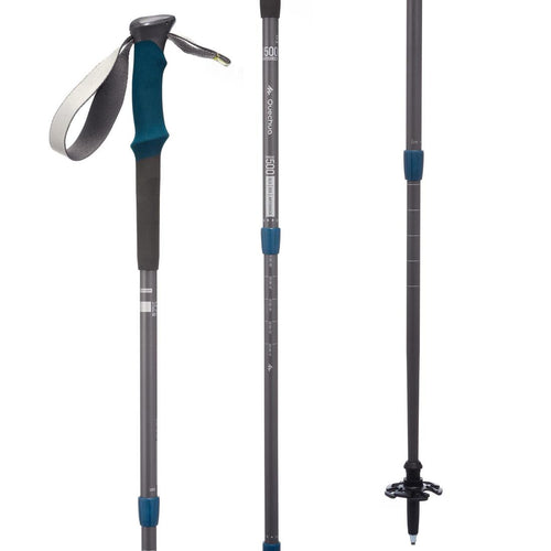 1 Anti-shock Mountain Walking Pole - F500AS - Grey - Decathlon New Zealand