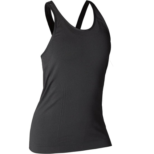 Women's Seamless Dynamic Yoga Tank Top - Green - Decathlon New Zealand