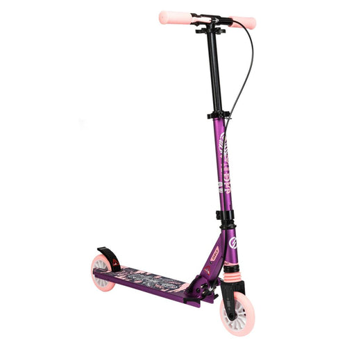 Mid 5 Kids' Scooter with Handlebar Brake and Suspension - Purple - Decathlon New Zealand