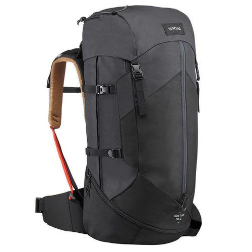 Men's mountain trekking rucksack | TREK 100 Easyfit 50L - black - Decathlon New Zealand