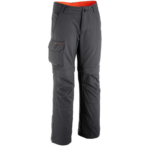 Boy's Convertible Hiking Trousers - MH550 - Black - Decathlon New Zealand
