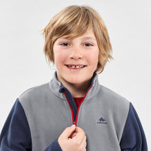 Load image into Gallery viewer, Children age 7-15 hiking fleece MH100 - grey - Decathlon New Zealand