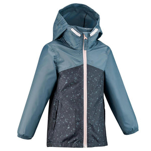 Kids' waterproof hiking jacket MH150 - Blue/Grey - Decathlon New Zealand