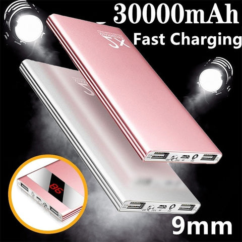 【Power Bank】 30000mAh External Battery Portable Fast Charger for All Smartphone