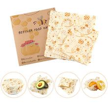 Load image into Gallery viewer, 3 Piece Reusable Bees Wax Food Wrap