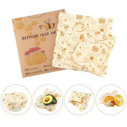3 Piece Reusable Bees Wax Food Wrap