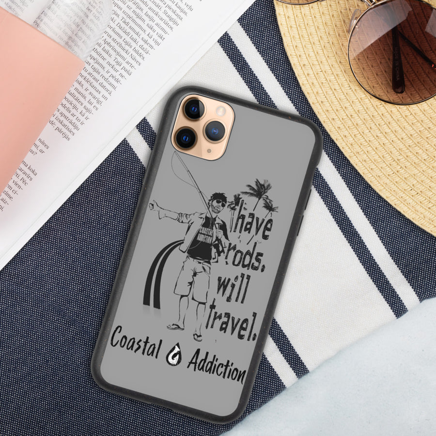 Have Rods Will Travel Biodegradable phone case