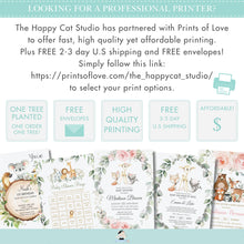 Load image into Gallery viewer, Woodland Pink Floral Greenery Flag Banner Garland Editable Template - Digital Printable File - Instant Download - WG10