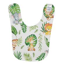 Load image into Gallery viewer, Cute Jungle Animals Safari Personalized Baby Bib