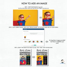 Load image into Gallery viewer, Superhero Birthday Party Invitation with Photo Editable Template - Instant Download - HP2