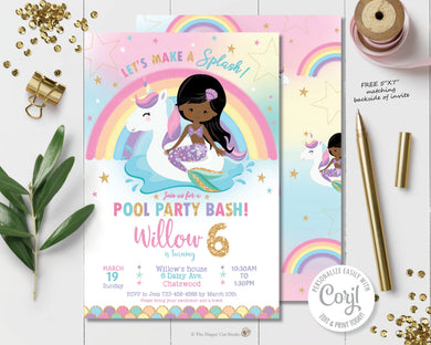 unicorn-and-mermaid-pool-birthday-party-invitation-diy-editable-template-instant-download-digital-printable-file