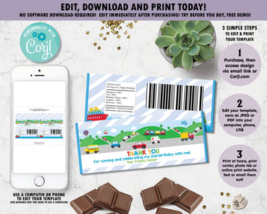 colourful-transportation-things-that-move-birthday-party-thank-you-favour-chocolate-bar-wrappers-for-aldi-mini-choceur-40g-and-hersheys-digital-file-editable-template