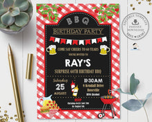 Load image into Gallery viewer, Backyard BBQ Birthday Party Invitation Editable Template - Instant Download - Digital Printable File - BQ1