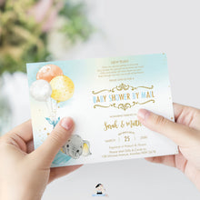 Load image into Gallery viewer, Elephant Baby Shower by Mail Invitation Baby Boy Long Distance Virtual Shower - Editable Template - Instant Download - EP3