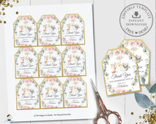 Load image into Gallery viewer, Chic Floral Greenery Woodland Thank You Favor Tags Editable Template - Digital Printable File - Instant Download - WG10