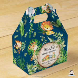 10x Cute Jungle Animals Safari Birthday Party Baby Shower Favor Boxes