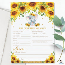 Load image into Gallery viewer, Elephant Sunflower Floral Baby Shower Game Value Bundle Set of 8 Games - INSTANT DOWNLOAD - Digital Printable Files - EP8