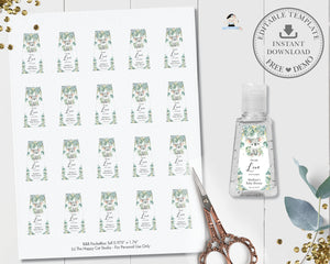 Cute Koala Eucalyptus Greenery Hand Sanitizer Lotion Bottle Labels 6 Sizes - Editable Template - Digital Printable File - Instant Download - AU2
