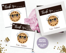 Load image into Gallery viewer, Smart Cookie Teacher Thank You Tags Editable Template - Instant Download - Digital Printable File - SC1