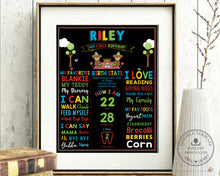 Load image into Gallery viewer, Cute Teddy Bear Picnic 1st Birthday Milestone Sign Editable Template - Instant Download - Digital Printable File - TB2
