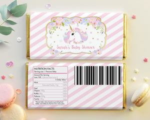 Unicorn Chocolate Bar Wrapper Aldi Hershey's Personalized Editable Template - Instant Download - Digital Printable File -UB8
