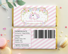 Load image into Gallery viewer, Unicorn Chocolate Bar Wrapper Aldi Hershey's Personalized Editable Template - Instant Download - Digital Printable File -UB8