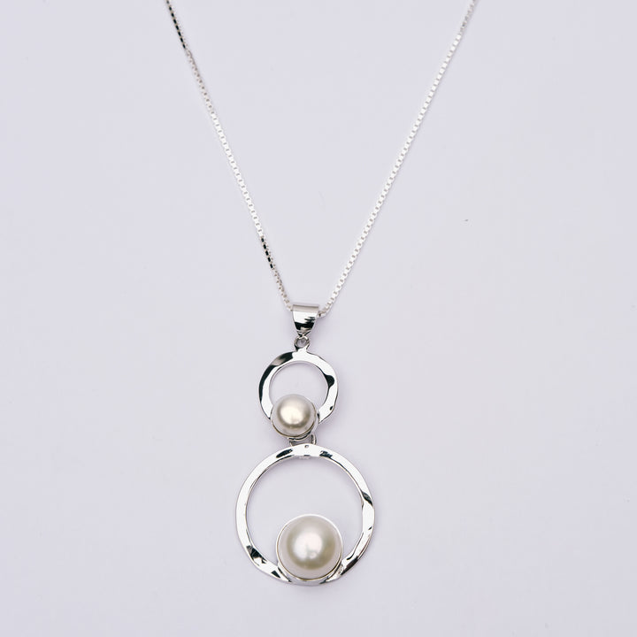 Double Freshwater Pearl Pendant