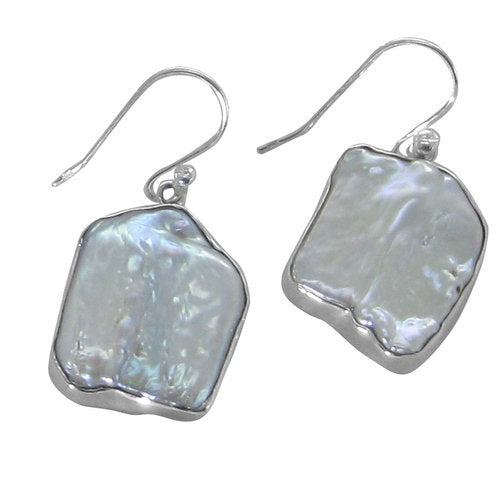 Biwa drop earrings