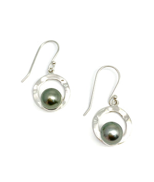 Tahitian Pearl Hook Drop Earrings