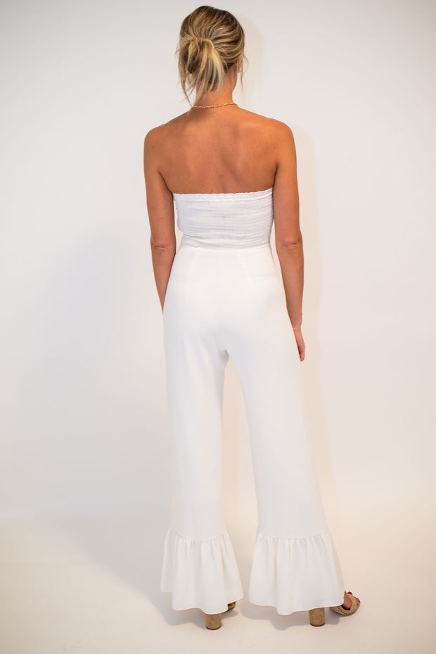 The White Sand Beach Jumpsuit by Amanda Uprichard | FINAL SALE