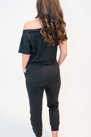 Black Terry Jumpsuit