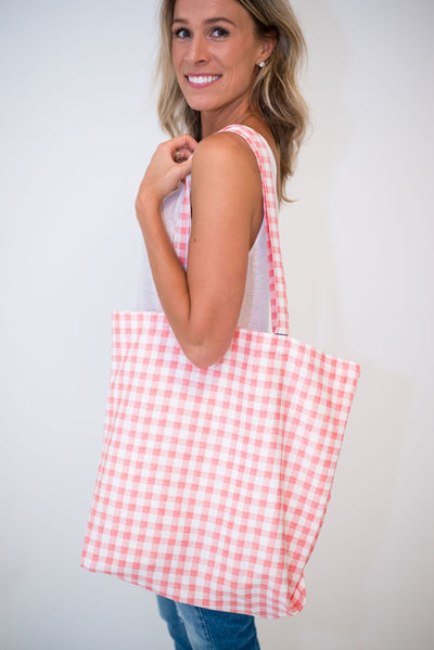 The MARU Checkered Tote Bag