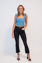Isla Stream Denim Crop Top
