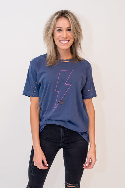 The Pink Lightning Bolt Tee