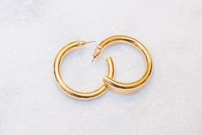 The Thick Gold Medium Hoops