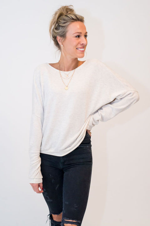 All the Feels Button Back Sweater