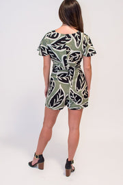 The Sage Leaf Romper by Eva Franco