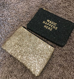 Sparkly beauty clutch