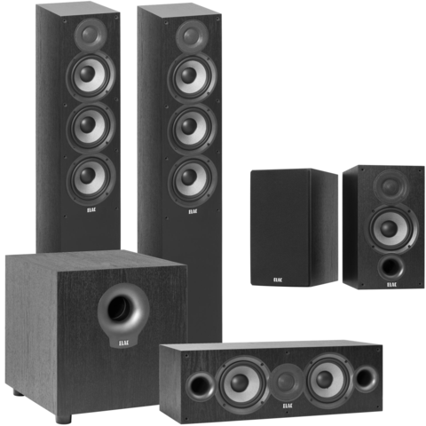 "Debut 2.0 5-1/4"" 5.1 Home Theater Speaker System (Tower Fronts)"
