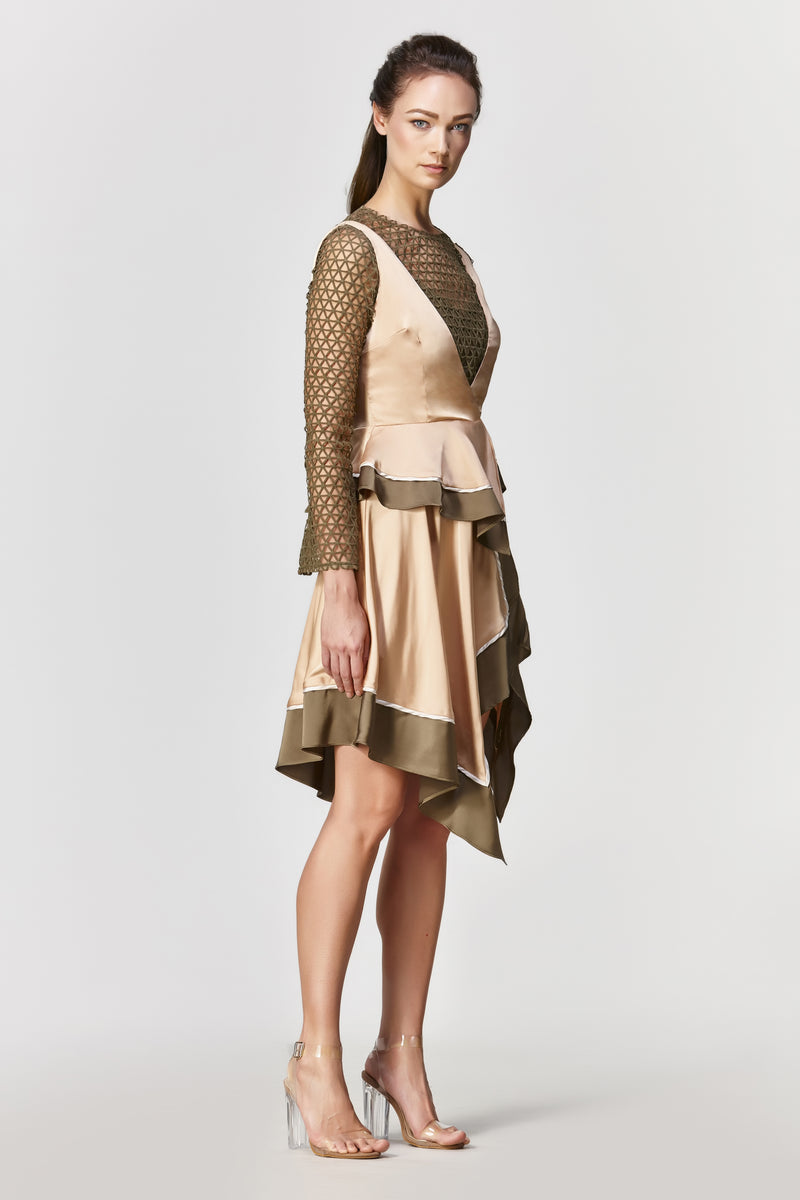 Dawn Handkerchief Dress - Pale Gold