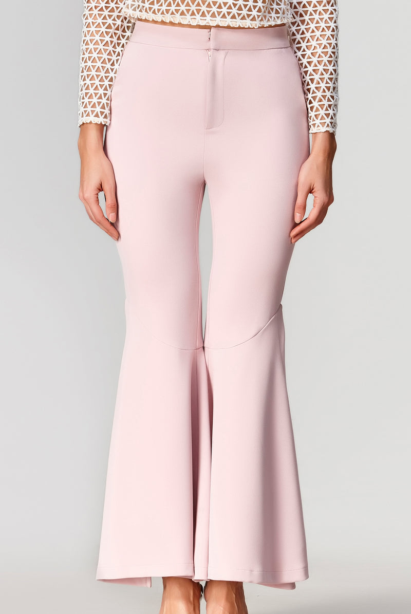 Dawn Bell Bottom Pants - Pink Flare