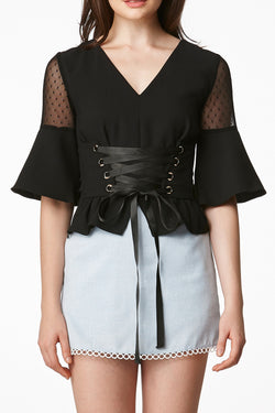 MOS Two Way Corset Top - Black