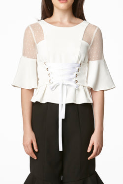 MOS Two Way Corset Top - White