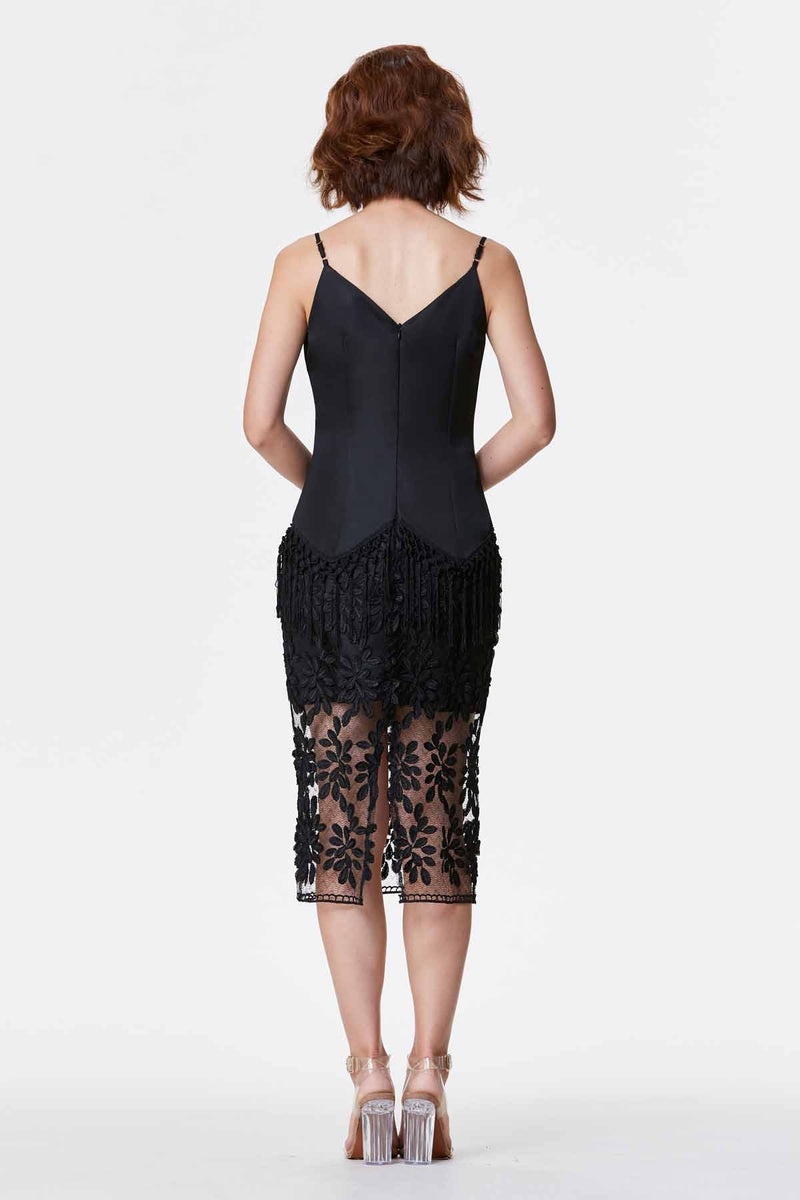 JÙ 聚/剧 Signature Dress - Black