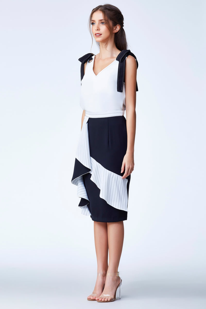 Cruise'18 Pencil Skirt - Black/White