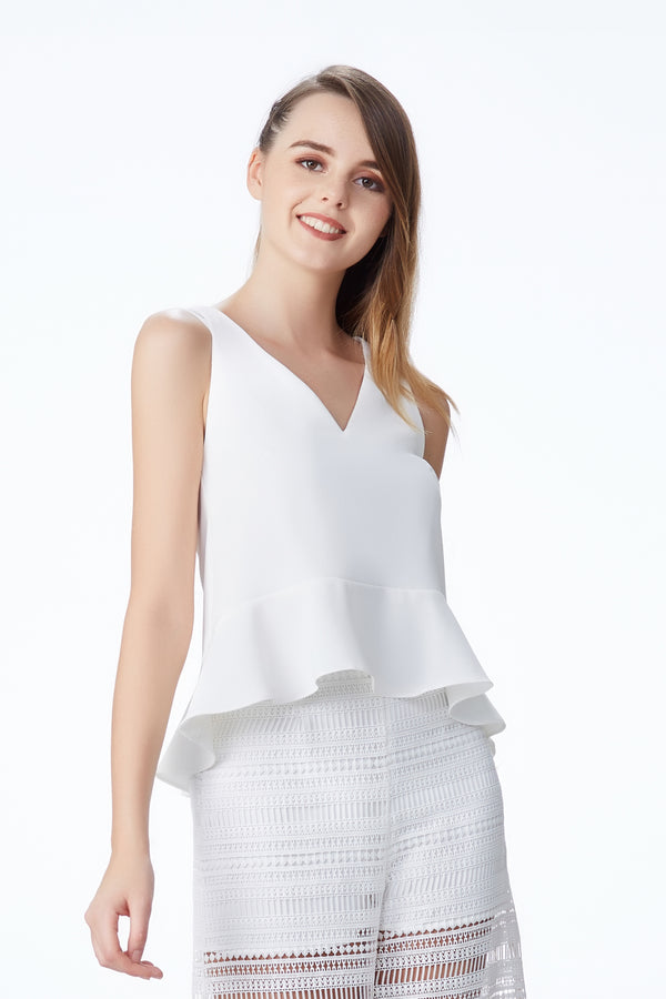 SS'18 Double Strap Cami Top - White